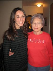 DWN Director Jaclyn Hugg and her grandmother.