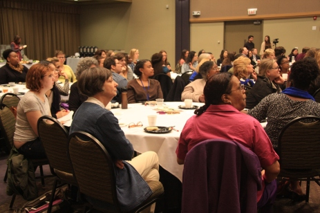 Attendees listen closely to St. Louise's personal journey.